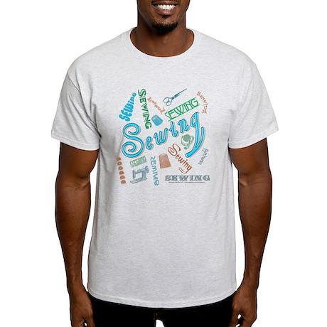 Sewing Aqua Light T-Shirt
