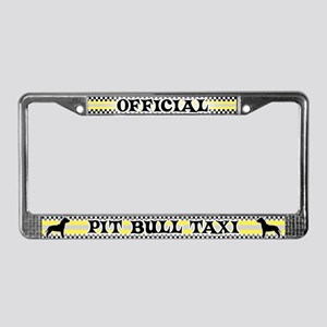 Official Pit Bull Taxi License Plate Frame