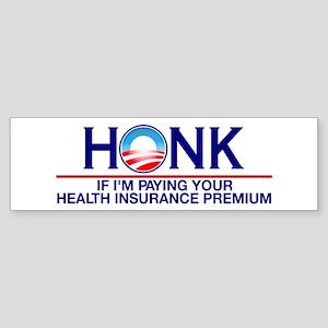 Honk Health Insurance Bumper Sticker