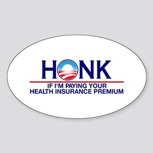 Honk Health Insurance Oval Sticker