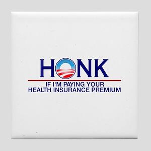 Honk Health Insurance Tile Coaster