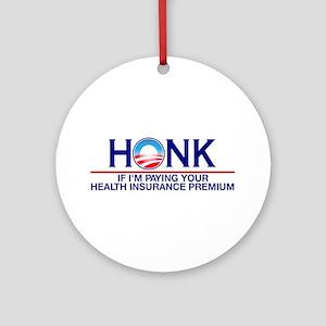 Honk Health Insurance Ornament (Round)