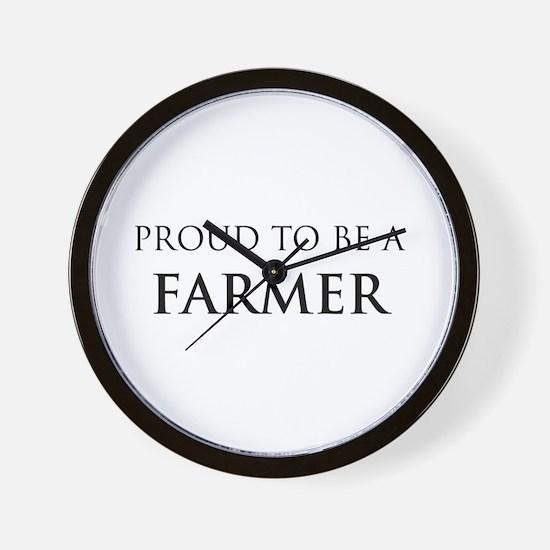 Proud Farmer Wall Clock