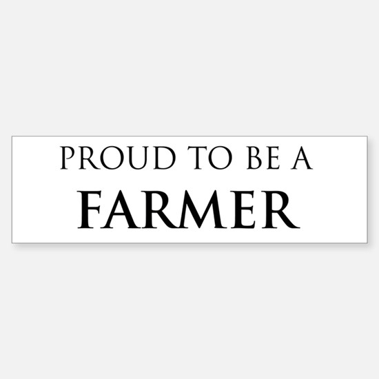 Proud Farmer Bumper Car Car Sticker