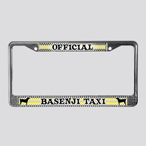 Official Basenji Taxi License Plate Frame