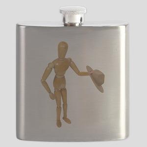 HoldingMountieHat051409 Flask