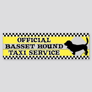 Official Basset Hound Taxi Bumper Sticker