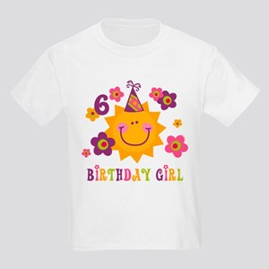 Sun 6th Birthday Kids Light T-Shirt