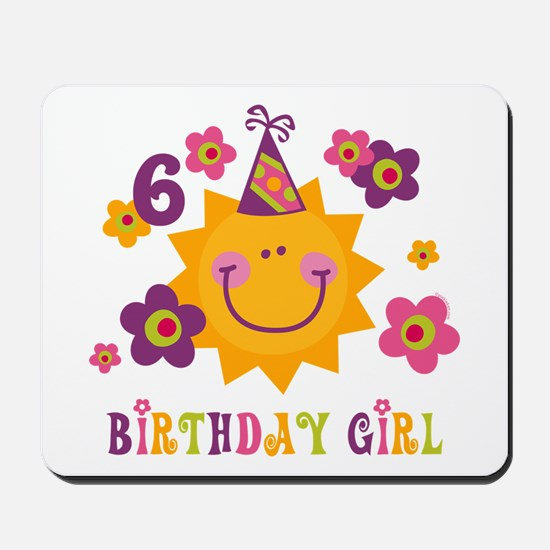 Sun 6th Birthday Mousepad