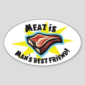 Meat Oval Sticker