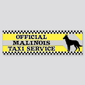 Official Malinois Taxi Bumper Sticker