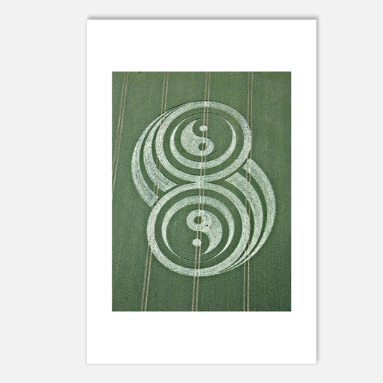 Unique Crop circles Postcards (Package of 8)