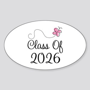Pink Class Of 2026 Oval Sticker