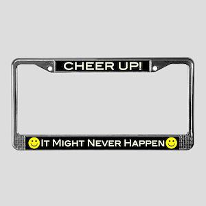Cheer Up V2 License Plate Frame