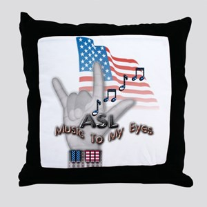 Music to my Eyes - Throw Pillow