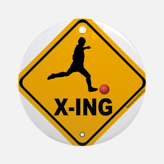 Kickball X-ing Ornament (Round)