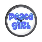 Peace Girl Wall Clock