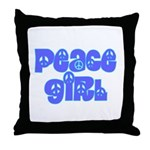 Peace Girl Throw Pillow