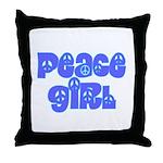Peace Girl Throw Pillow