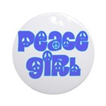 Peace Girl Ornament (Round)