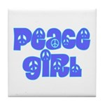 Peace Girl Tile Coaster