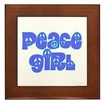 Peace Girl Framed Tile