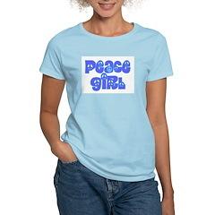 Peace Girl Women's Pink T-Shirt