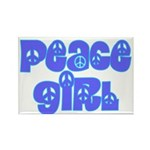 Peace Girl Rectangle Magnet