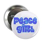 Peace Girl Button