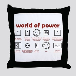 World of Power Throw Pillow