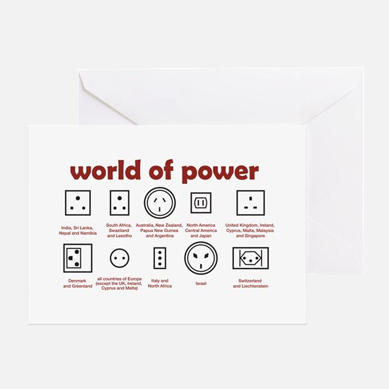 World of Power Greeting Card