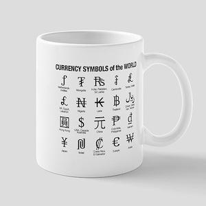 World Currency Symbols Mug