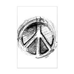 Urban Peace Sign Sketch Mini Poster Print