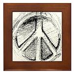 Urban Peace Sign Sketch Framed Tile
