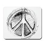 Urban Peace Sign Sketch Mousepad