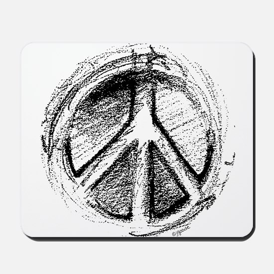 Urban Peace Sign Sketch Mousepad