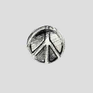 Urban Peace Sign Sketch Mini Button