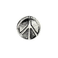 Urban Peace Sign Sketch Mini Button (100 pack)