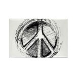 Urban Peace Sign Sketch Rectangle Magnet (10 pack)