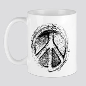 Urban Peace Sign Sketch Mug