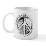 Urban Peace Sign Sketch Mug
