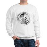 Urban Peace Sign Sketch Sweatshirt