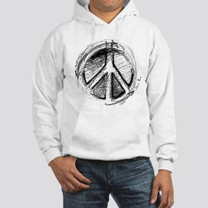 Urban Peace Sign Sketch Hooded Sweatshirt
