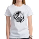 Urban Peace Sign Sketch Women's T-Shirt