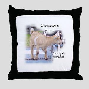 Nosey Goat Throw Pillow