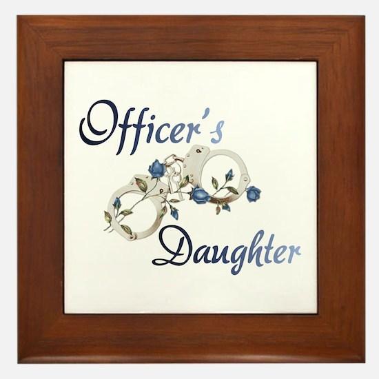 Officer's Daughter Framed Tile