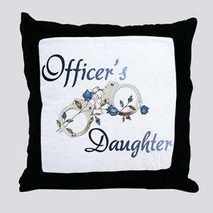 Officer's Daughter Throw Pillow