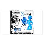 X-Specs Rectangle Sticker