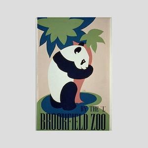 Brookfield Zoo Panda WPA Art Rectangle Magnet