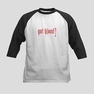 got blood? Kids Baseball Jersey